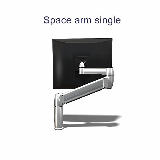 BakkerElkhuizen Space monitorarm Single