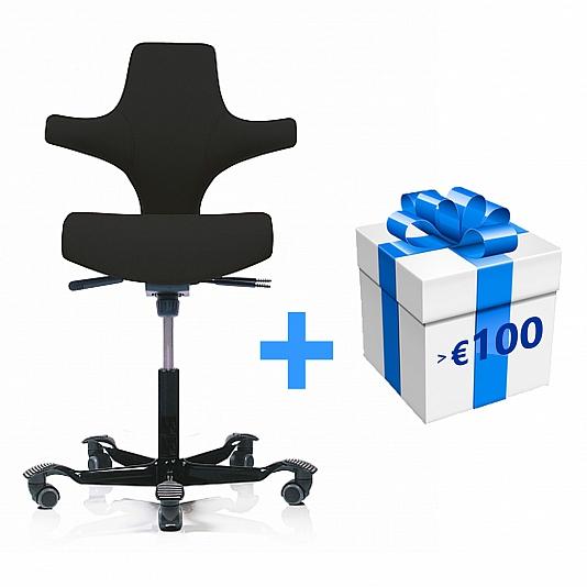 Fabulous Hag Capisco 8126 Office Chair Imitation Leather Valencia Machost Co Dining Chair Design Ideas Machostcouk